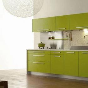 201平米以上簡約228平復式開放式廚房清新綠色櫥柜裝修效果圖