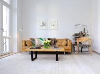 白色+原木色 斯德哥尔摩39平一室户