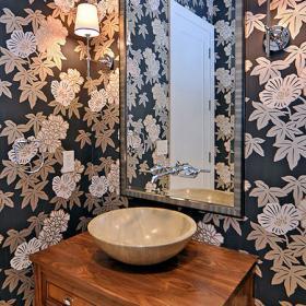 花樣壁紙打造精美衛浴 時尚搭配技巧