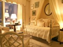 90平米时尚欧式风格两居室卧室背景墙装修效果图