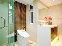 84平简约舒适两室效果图之浅色系卫生间