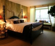混搭風格家居臥室背景墻圖片