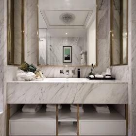 現代法式風格四居室衛生間洗手臺效果圖