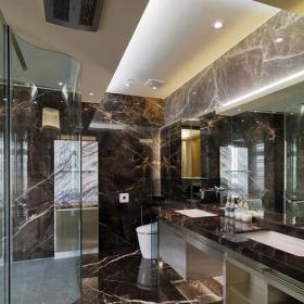 現代設計四居衛生間大理石效果圖