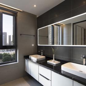 220平米簡約公寓衛生間設計效果圖