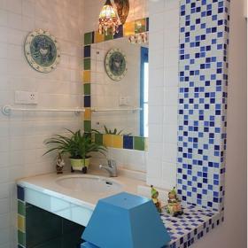 地中海家居衛生間洗手盆圖片