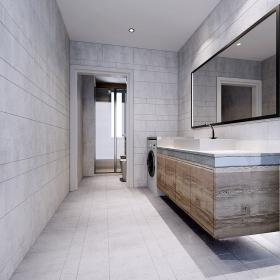 92平舒適歐式風衛生間洗手盆設計