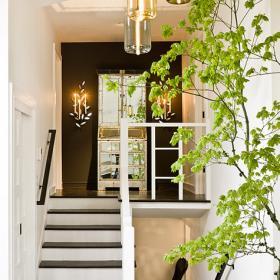 清新田園復式家居樓梯設計圖片