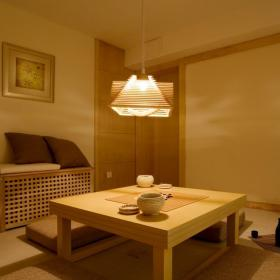日式樣板房休閑區地臺圖片