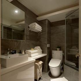 现代简约三居卫生间干湿分离效果图赏析