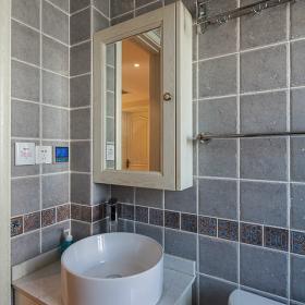 90平簡約鄉村風衛生間洗手盆設計