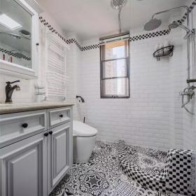140㎡美式风格三居卫生间淋浴设计效果图