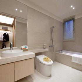 主卧卫生间 灰色的墙地砖搭配