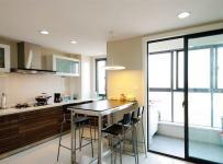 150平現代風格溫馨婚房之開放式廚房設計效果圖