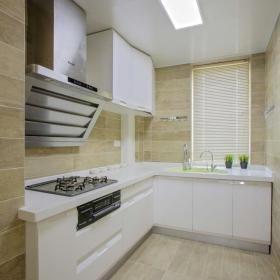 110平美式三居室廚房裝修效果圖賞析