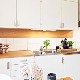 79平北歐簡約兩居室設計之廚房效果圖