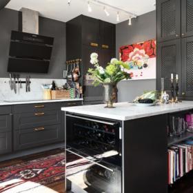 北歐復式家居廚房圖片