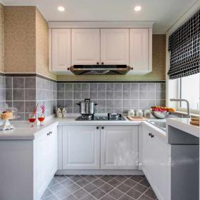 明亮歐式三室開放式廚房設計