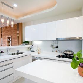 溫潤混搭風格廚房效果圖片