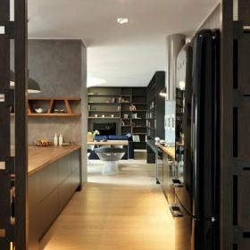 東南亞現代三居室開放式廚房設計