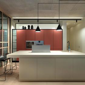 78平現代溫馨公寓廚房吊燈設計