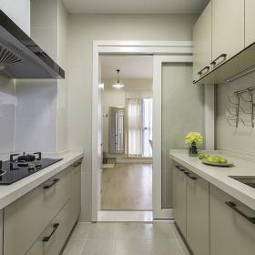 現代簡約兩居室設計廚房效果圖