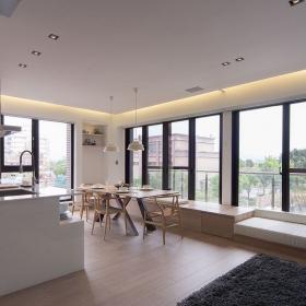 81平現代簡約兩居室廚房餐廳設計