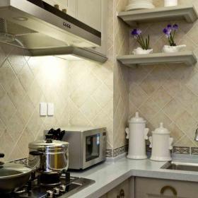 地中海清爽海邊風兩居室廚房裝修效果