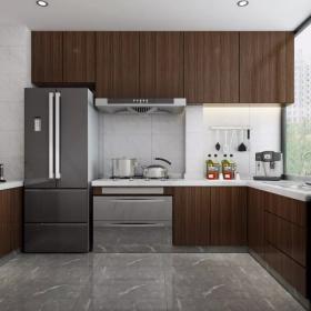 現代港式風三居之開放式廚房設計效果圖