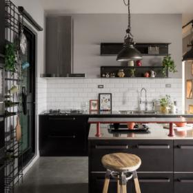 時尚混搭廚房效果圖片