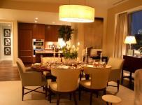 90平米時尚歐式風格兩居室餐廳裝修效果圖