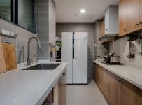 森男系北歐風兩室之廚房空間設計效果圖