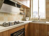 82平二居美式之厨房整体设计效果图