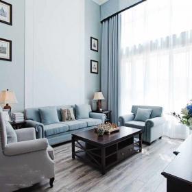 明亮歐式三室客廳裝修效果圖