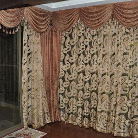 歐式風格室內窗簾圖片