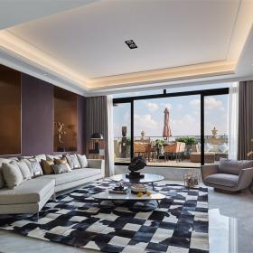 典雅歐式別墅客廳裝修設計