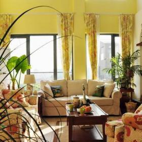 溫馨簡歐復式家居客廳效果圖