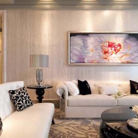 歐式古典三室客廳裝修效果圖