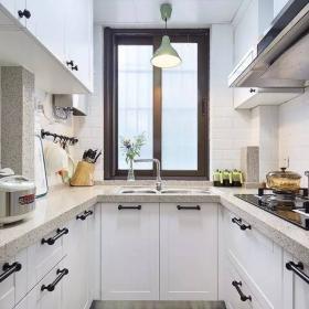 75平宜家兩居室之廚房顏色搭配效果圖