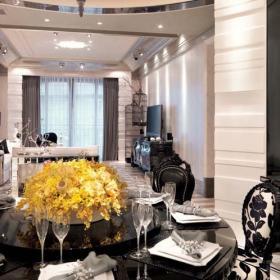 歐式古典三室餐廳裝修設計