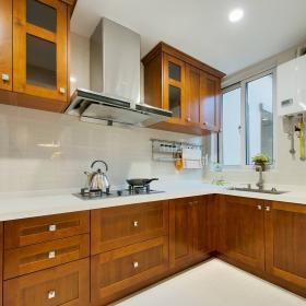 80平美式風格兩居之廚房造型設計效果展示