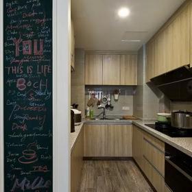 83平文藝混搭風兩居之廚房格局設計效果圖