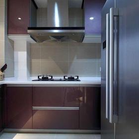 110平米現代簡約三居之廚房整體效果賞析