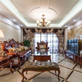 復古風格四居室客廳設計