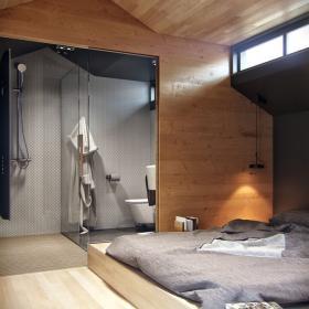 浴室与卧室为一体
