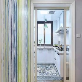 75平宜家兩居室之廚房移門設計效果圖