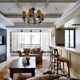 148平復式美式之半開放式廚房設計效果展示