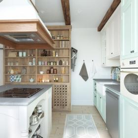 94平北歐簡約風兩居之廚房裝修效果展示