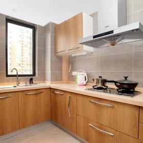 90平簡約清新兩居之廚房格局設計效果圖
