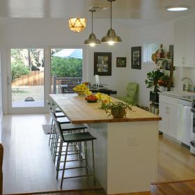 三居室簡約風格開放式廚房圖片